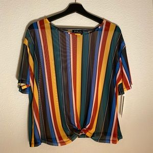 🍂NWT Colorful striped blouse